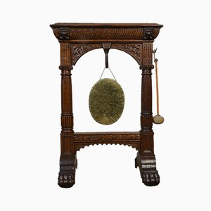 Oak Carved Dinner Gong, 1890s