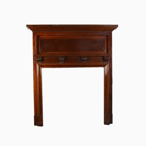 Edwardian Mahogany Fire Surround, 1910s