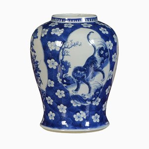 Late 19th Century Chinese Blue and White Vase