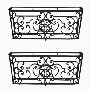 Victorian Cast Iron Window Guards, Set of 2