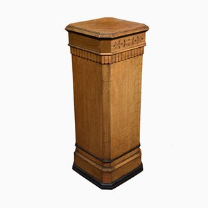 Antique Oak Column, 1900s