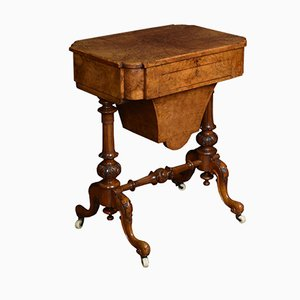Victorian Walnut Work Table, 1870s