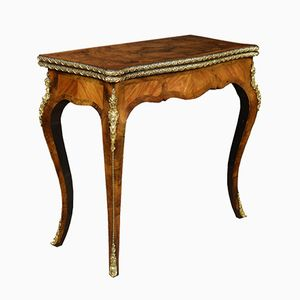 19t-Century Burr Walnut & Kingwood Card Table
