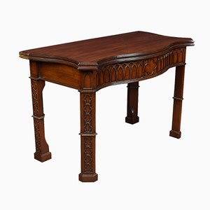 Pair of mahogany gothic revival card tables