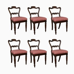 George IV Simulated Rosewood Dining Chairs, Set of 6