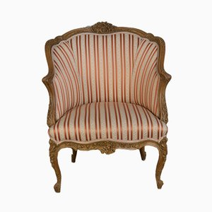 French Walnut Armchair, 1900s
