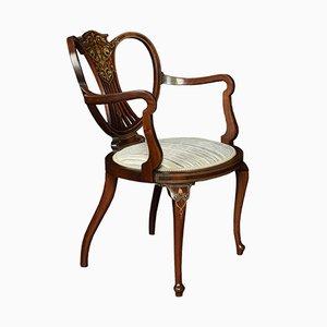 Antique Inlaid Armchair