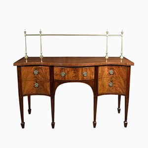 George III Serpentine Fronted Sideboard, 1810s