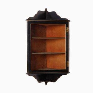 Regency Style Ebony Wall Cabinet, 1840s