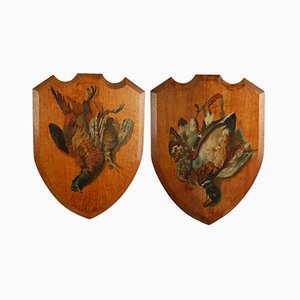 Shield Plaques, 1890s, Set of 2