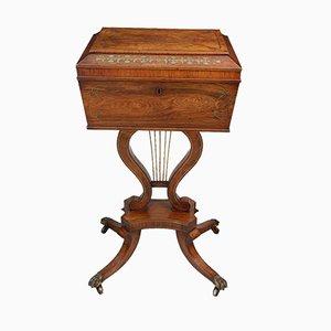 Tavolino da tè Regency in palissandro e dettagli in ottone, metà XIX secolo