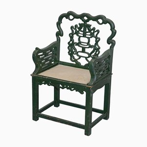 Chinese Jade Green Chair, 1750s