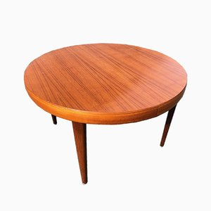 Table Scandinave avec Double Rallonge, 1960s
