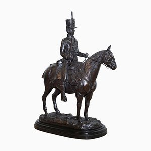 Large English Bronze French Cavalry Statue by John Skeaping, 1950s