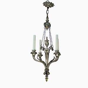 Antique French 4-Branch Silver Chandelier