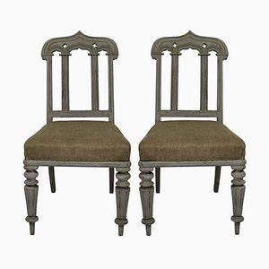 Gotische englische Stühle, 1830er, 2er Set