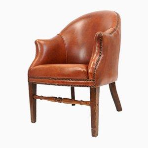 Club chair vintage in pelle