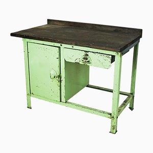 Vintage Industrial Green Metal Work Desk
