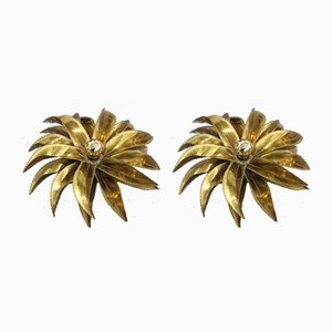 Aloe Vera Sconces from Maison Jansen, 1970s, Set of 2