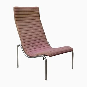 Pink Fabric 704 High Lounge Chair by Kho Liang Ie for Stabin Holland, 1968