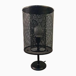 Mid-Century Grille Table Lamp