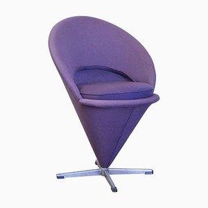 Tabouret Haut Violet Conique par Verner Panton pour Rosenthal, 1958
