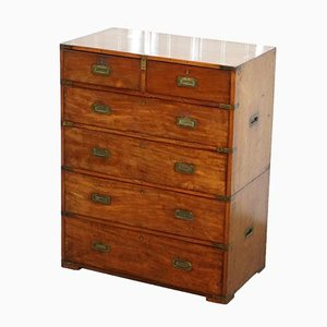 Mahogany Military Campaign Chest of Drawers, 1870s