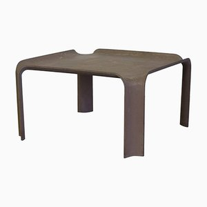 Chocolate Brown Model 877 Side Table by Pierre Paulinin, 1967