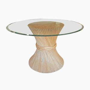Bamboo Dining Table from McGuire, 1960s