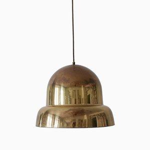 Lámpara colgante sueca Mid-Century Modern grande de latón de Bergboms, años 50