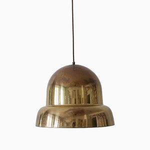 Large Mid-Century Swedish Modern Brass Pendant Lamp from Bergboms, 1950s