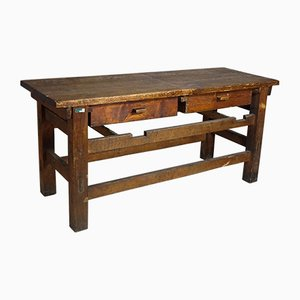 Vintage Industrial Wooden Work Bench