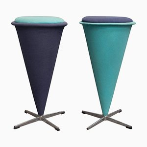Cone High Stools by Verner Panton for Rosenthal, 1958, Set of 2