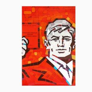 Poster comunista dell'Unione Sovietica, anni '70