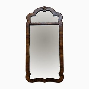 Walnut Wall Mercury Glass Mirror, 1800s