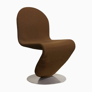 1-2-3 Series Brown Fabric Dining Chair by Verner Panton, 1973