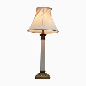 Marble Corinthian Pillar Lamp, 1920s