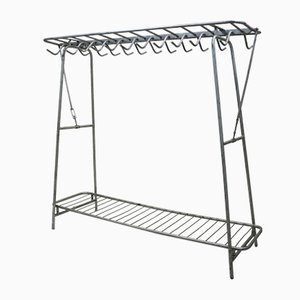 Vintage Industrial Metal Clothing Rack, 1960s