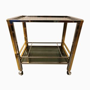 Mid-Century Brass Serving Trolley, 1970s