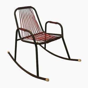 Metal, Plastic, and String Rocking Chair, 1960s