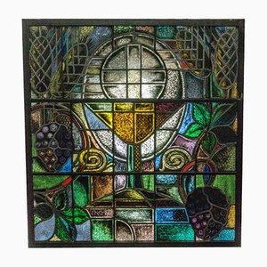 Finestra da chiesa in vetro colorato di W. Mengelberg Zeist, anni '30