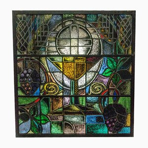 Stained Glass Church Window by W. Mengelberg Zeist, 1930s