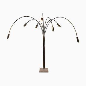 Lámpara de pie monumental ajustable, años 50 o años 60