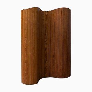 Divisorio pieghevole in legno, anni '60