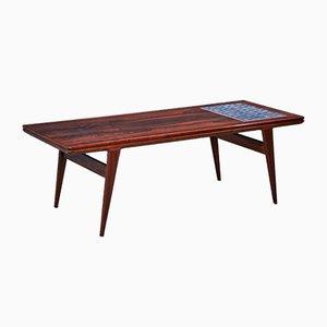 Table Basse en Palissandre avec Carreaux, Danemark, 1960s