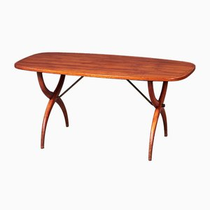 Mid-Century Danish Cross Legged Coffee Table, 1960s