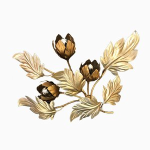 Brass Flower Wall Light by Hans Kögel, 1970s