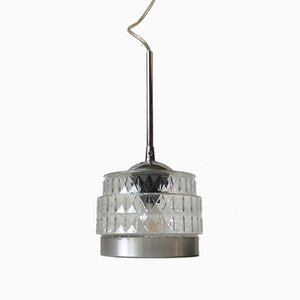 Danish Modern Pressed Glass Pendant Light from Lyfa, 1970s