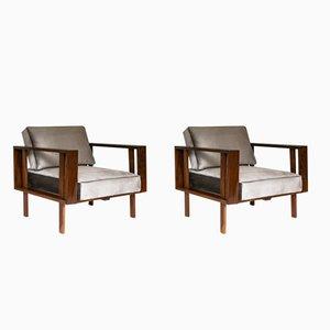 Brasilianische Mid-Century Sessel von Móveis Fátima, 1960er, 2er Set