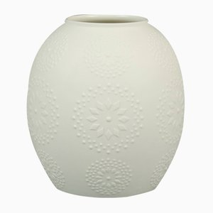 Vaso minimalista in porcellana Bisque di Hutschenreuther, anni '70